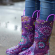 Abstract Blooms Lighted Rain boots {Purple} | 491007