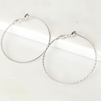 Classic Hoop Earrings Silver