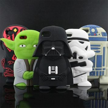 Star Wars Force Episode 1 2 3 4 5 Fashion 3D  Master Yoda Darth Vader Coque Capa Soft Silicone Phone Case For iPhone 8 7 7Plus 5 5s 6 6s 6Plus Back Cover AT_72_6