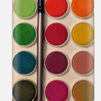 iPhone 6 Case , Watercolor iphone 5C ,  Paintbox iPhone Cover , cellcasebythatsnancy