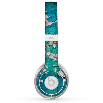 The Cracked Multicolored Paint Skin for the Beats by Dre Solo 2 Headphones