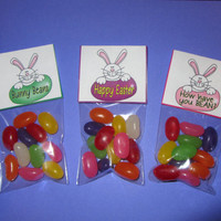 EASTER BUNNY TOPPER,Jelly Bean,candy,bag topper,party favor, bags included