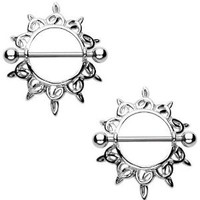 Nipple Ring Bars Celtic Knot Body Jewelry Pair 14 gauge Sold as pair HO605