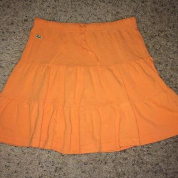 Sale!! Vintage LACOSTE orange casual womens tennis skirts