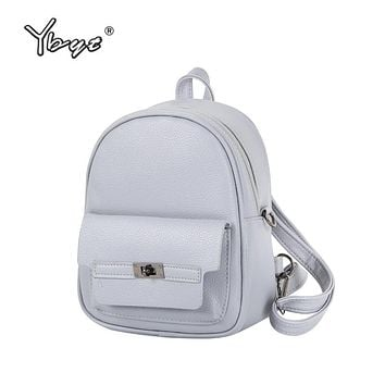 YBYT brand 2017 new women PU leather student school bookbags shopping packages fashion casual travel bags preppy style backpacks