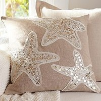 Sequin Coastal Pillow Collection