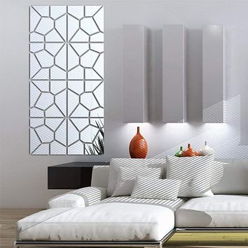 Mirrored Stone Wall Decoration