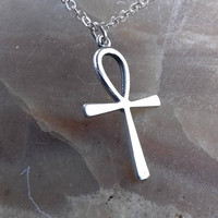 Ankh Necklace.Egyptian Cross.Hand made Silver 925 pendant.Power of Life.