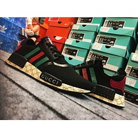 ADIDAS x GUCCI NMD Women Men Fashion Casual Breathable Running Trending Sneakers Sport Shoes Black G
