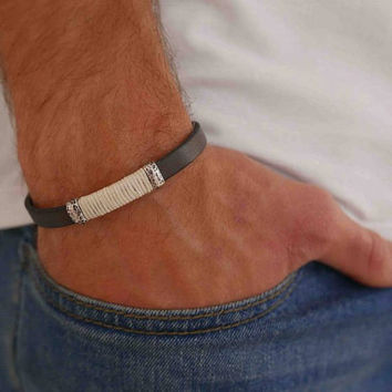 Men's Bracelet - Men's Cuff Bracelet - Men's Leather Bracelet - Men's Jewelry - Men's Gift - Husband Gift - Boyfriend Gift - Present For Men
