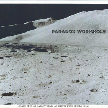 Vintage Nasa Apollo Eva Photo Silver Spur at Hadley Delta As Viewed From Apollo 15 Lunar Module