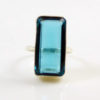 London Blue Topaz 925 Sterling Silver Ring