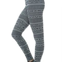 Striped Tribal Print Legging