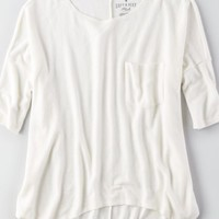 AEO Soft & Sexy Plush T-Shirt , Navy | American Eagle Outfitters