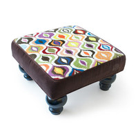 Jonathan Adler Bargello Waves Footstool in Footstools