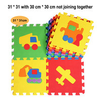 10pcs/set  EVA Mat Puzzle Carpet Baby Play Mat Puzzle Baby Foam Flooring Mats Number Letters Animal Mat For Bedroom