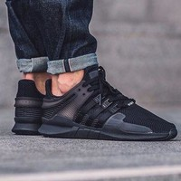 Adidas EQT Equipment Support ADV All Black Sprot Shoes Running Shoes Men Women Casual Shoes BA8324
