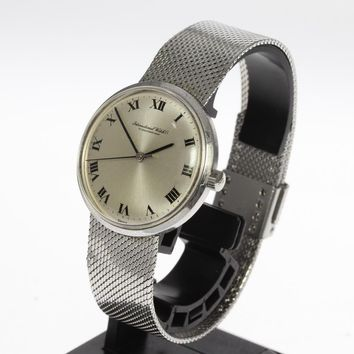 IWC Schaffhausen Vintage Silver Dial Hand-Winding Mens Pre-Owned Wristwatch....34mm