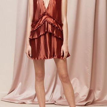 FINDERS KEEPERS | Stardust Short Sleeve Dress - Copper