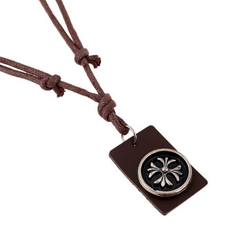 New Arrival Shiny Gift Jewelry Stylish Style Leather Men Alloy Vintage Beach Necklace [6526583171]