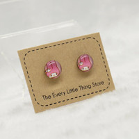 Handmade Resin Earrings (Magnetic or Stud Style) - My Melody