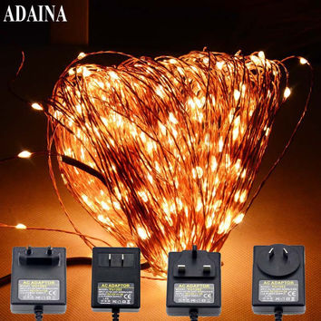 50M/165Ft 500 LED Lights Copper Wire String Light Outdoor Waterproof Fairy Lamp Garden Wedding Christmas Decorations For Home