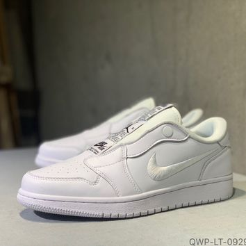 """""""Nike Air Jordan 1"""" Unisex Casual Classic Solid Color Low Help Plate Shoes Couple Sneakers"""