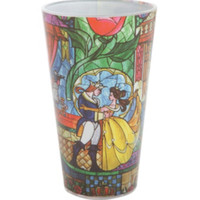 Disney Beauty And The Beast Stained Glass Pint Glass