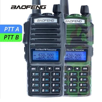 Baofeng UV-82 Walkie Talkie UV 82 Portable Two-way Radio Dual PTT CB Radio Dual Band VHF UHF Ham Transceiver UV82 Hunting Radio