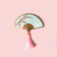 Sakura Hand Fan Pin - 3 variants