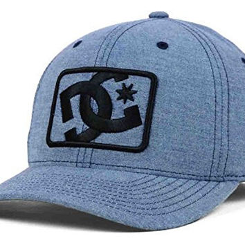 DC Shoes Buzzcutt Grey Flexfit Hat Cap Large/X-Large