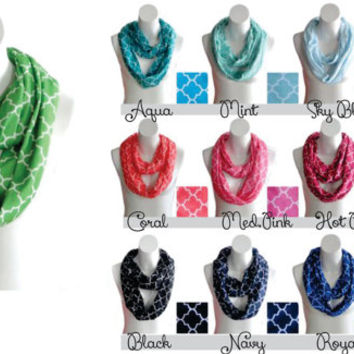Quatrefoil Infinity Scarf Personalized with your monogram