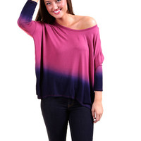 Ombre Tunic {Mauve} | The Rage