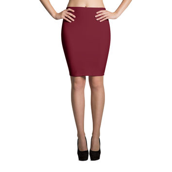 Simple Statement Pencil Skirt in Ruby
