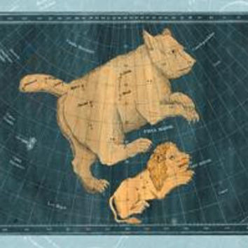 Ursa Major and Leo Minor #1: Fine art canvas print (12 x 18)