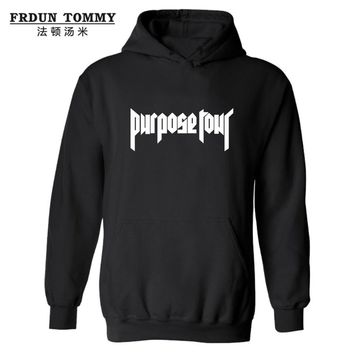 2016 Fashion PURPOSE TOUR Hooded Hoodies JUSTIN BIEBER Hoodies and Sweatshirts super star clothing Plus Size 4XL