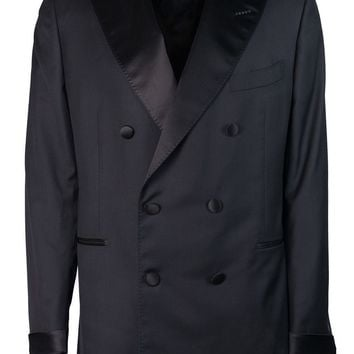 Tom Ford Mens Black Wool Double Breast Shelton Two Piece Tuxedo