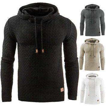 Men's Winter Hoodie Warm Hooded Sweatshirt Coat Jacket Outwear Sweater [8833481548]