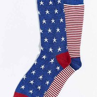 Stars + Stripes Mismatch Sock