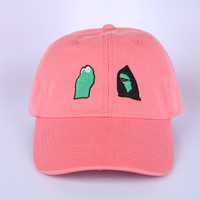 The Evil Kermit Dad Hat in Rose