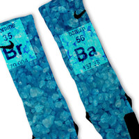 Blue Crystals Breaking Bad Custom Nike Elite Socks