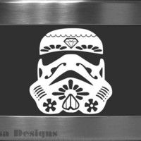 Sugar Skull / Stormtrooper Mashup vinyl decal - Car decal - MacBook decal - Sugar Skull decal - Star Wars decal - Stormtrooper decal