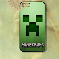 Minecraft - iPhone 5 , 5s, 5c,4s, 4 case,Ipod touch 5, Samsung GS3, GS4 case-Silicone Rubber / Hard Plastic Case, Phone cover