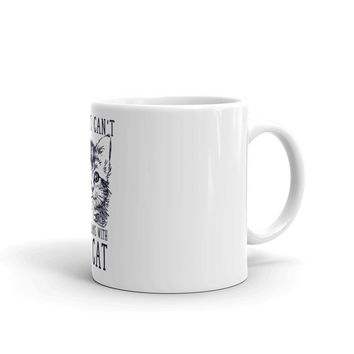 Sorry I Can't I Have Plans With My Cat Mug made in the USA
