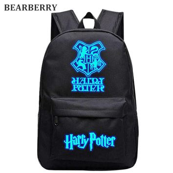 Backpack Luminous Nylon Various Options  (Harry Potter)