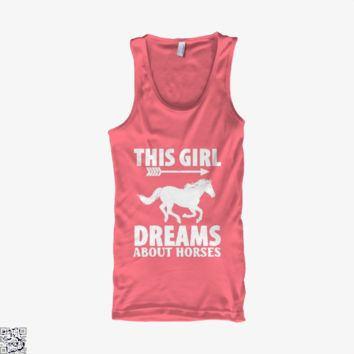 Girl Dreams About I Love Horse Riding, Horse Tank Top