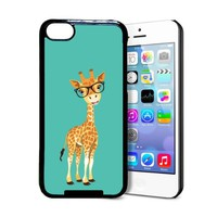 Hipster Cartoon Giraffe iPhone 5c Case - Fits iPhone 5c