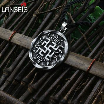 1pcs Fern Flower pendant Ancient Slavic Amulet symbol warrior talisman pendant norse Occult Pagan jewelry Germanic men necklace