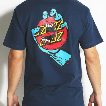 Santa Cruz, Screaming Dot T-Shirt - Harbor Blue