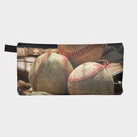 Baseballs and Glove Artist Canvas Pouch